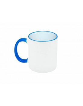 Caneca Alça e Borda Azul Claro  para Sublimação - Probulk