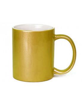 Caneca Glitter Dourada para Sublimação 11oz - Probulk