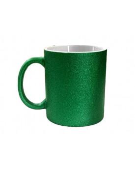 Caneca Glitter para Sublimação - verde