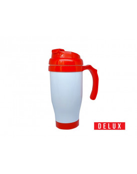 Caneca Temica Plástico Delux Vermelha 475ml