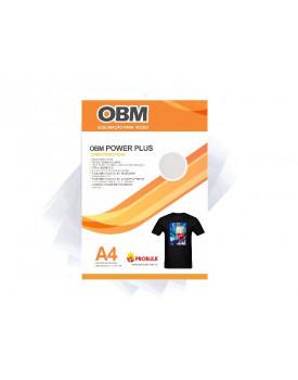 OBM sublimação em camiseta preta ou camiseta algodão