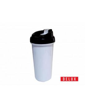 Squeeze de Plástico para Sublimação DELUX Tampa Preta