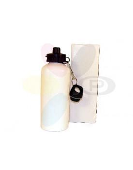Squeeze Aluminio Branco 600ml - 2 Tampas para sublimação