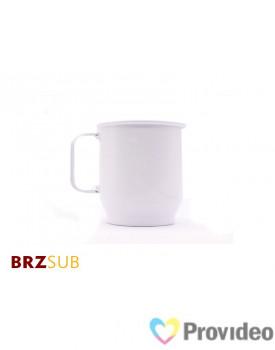 Caneca de Aluminio para Sublimação 400ml - Branca - BRZsub