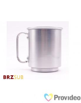 Caneca de Aluminio para Sublimação 400ml - Prata - BRZsub