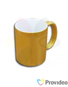 Caneca PEROLADA - Dourada de Cerâmica 11oz para Sublimação