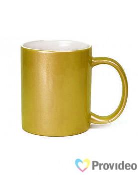 Caneca GLITTER Dourada de Cerâmica 11oz para Sublimação