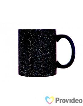 Caneca Magica Preta FOSCA Glitter Cerâmica 11oz para Sublimação