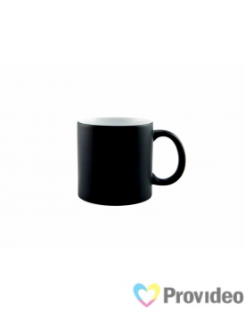 Caneca Magica Preta FOSCA de Cerâmica 3oz para Sublimação ( cafezinho )