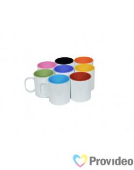 Caneca Plastica ( Polímero ) DELUX para Sublimação 11oz - Interior Colorida
