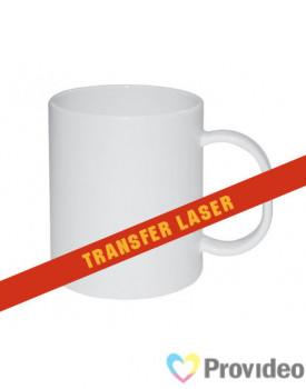 Caneca Branca de Plástico 400ml para Transfer Laser