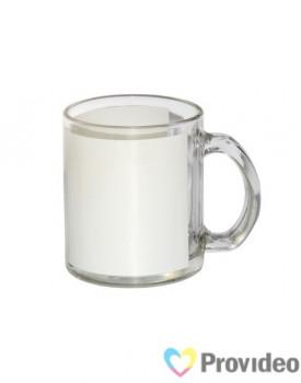 Caneca de Vidro Com Àrea Branca para Sublimação 11oz