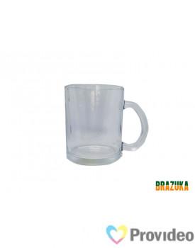 Caneca de Vidro CRISTAL para Sublimação - 320ml - Brazuka