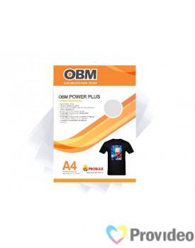 OBM Power PLUS - Sublimação p/ Tecido Escuro e/ou claro - A4   PCT 10 FLS