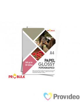 Papel Glossy Fotografico A4 180 - PCT 20