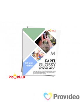 Papel Glossy Fotografico A4 230 - PCT 20