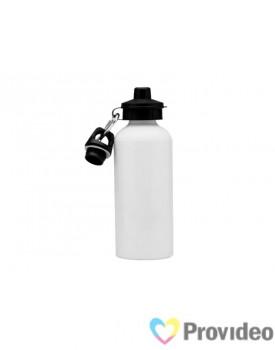 Squeeze de Alumínio 2 TAMPAS Branco 600ml para Sublimação