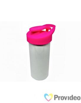 Squeeze de Plástico (polímero) Branco para Sublimação Nike - Tampa Rosa