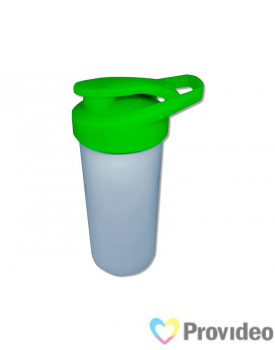 Squeeze de Plástico (polímero) Branco para Sublimação Nike - Tampa Verde