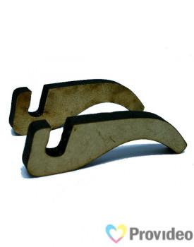 Suporte para Azulejo MDF Tipo Pezinho - 7,0mm NACZZ