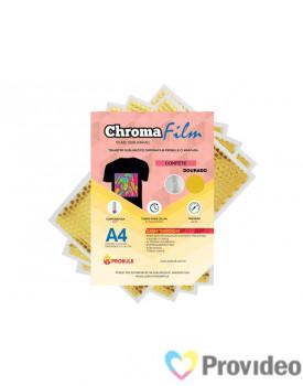 Transfer Sublimático ChromaFilm Probulk c/ Mascara - Confete Dourado ( A4 ) PCT/2