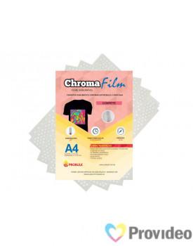 Transfer Sublimático ChromaFilm Probulk c/ Mascara - Confete Prateado ( A4 ) PCT/2