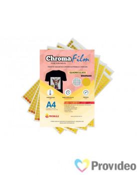 Transfer Sublimático ChromaFilm Probulk c/ Mascara - Quadriculado Dourado ( A4 ) PCT/2