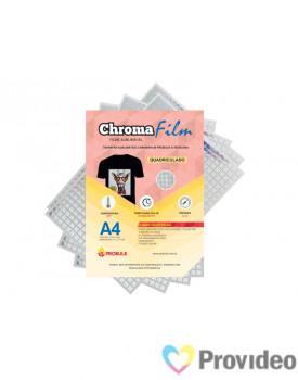 Transfer Sublimático ChromaFilm Probulk c/ Mascara - Quadriculado Prateado ( A4 ) PCT/2