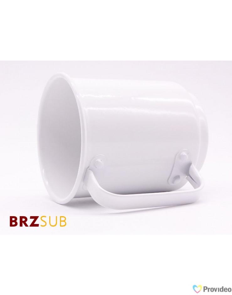 Caneca de Aluminio para Sublimação Branca 400ml
