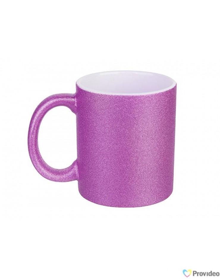 Caneca Glitter Rosa Pink para Sublimação 11oz - Probulk