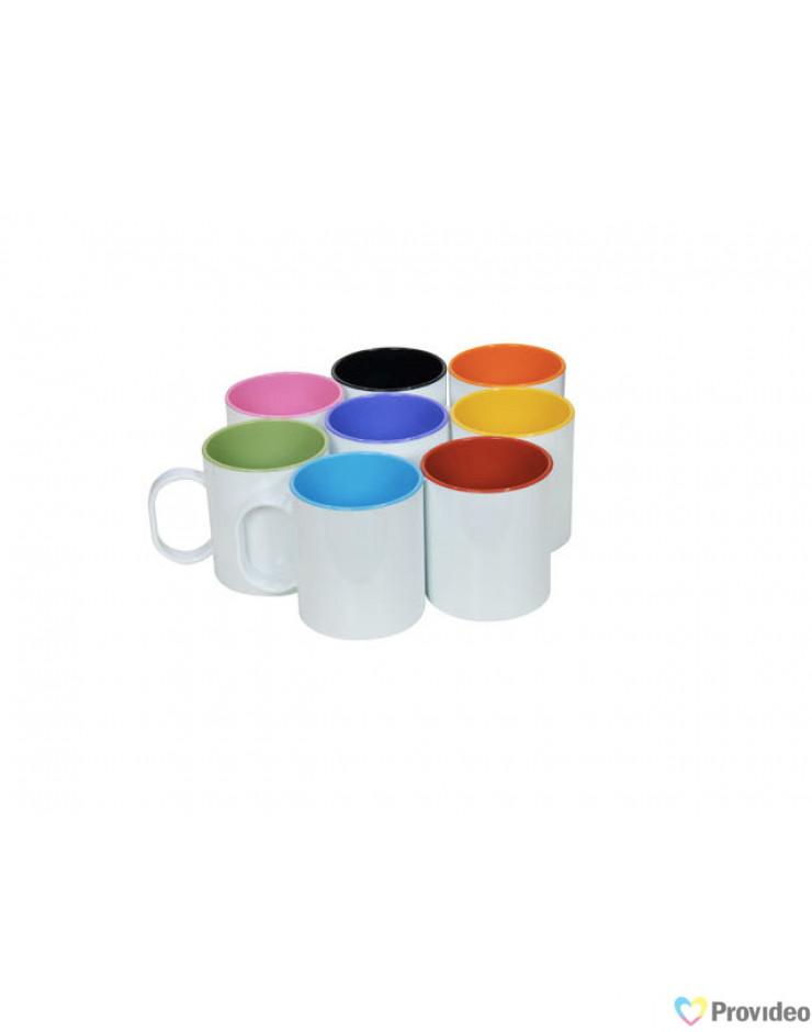 Caneca Plástica Colorida para Sublimação