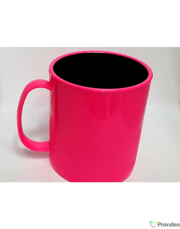 Caneca de polímero rosa para sublimação