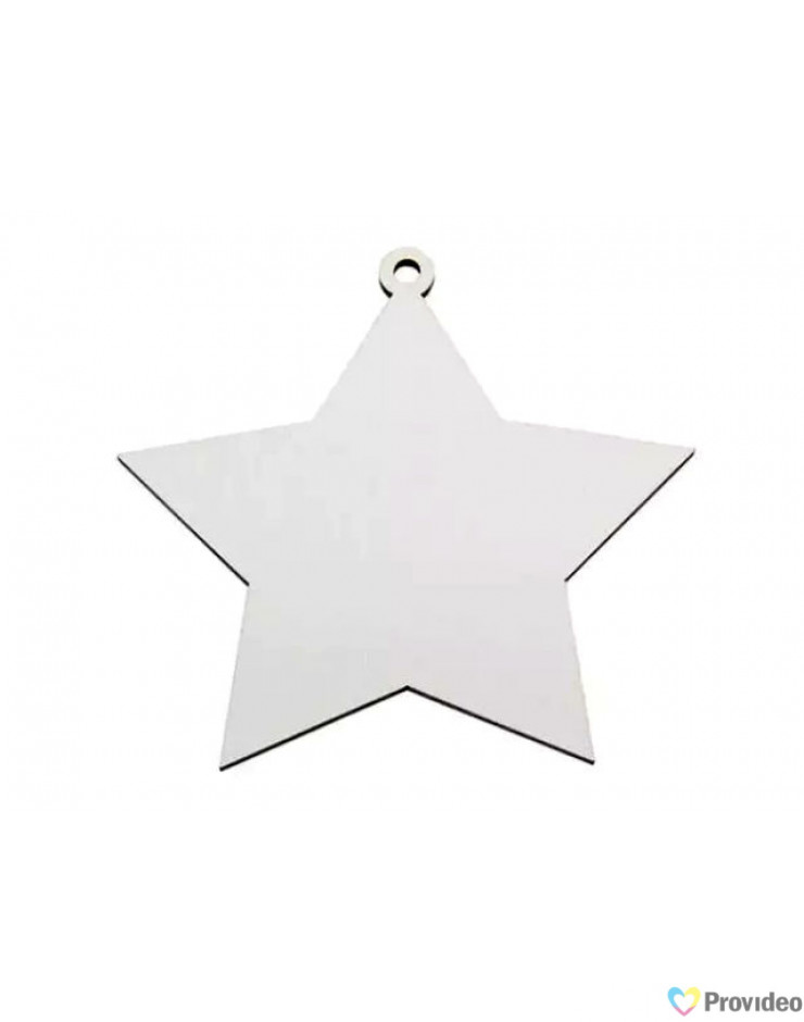 Enfeite Natal Estrela para Sublimação