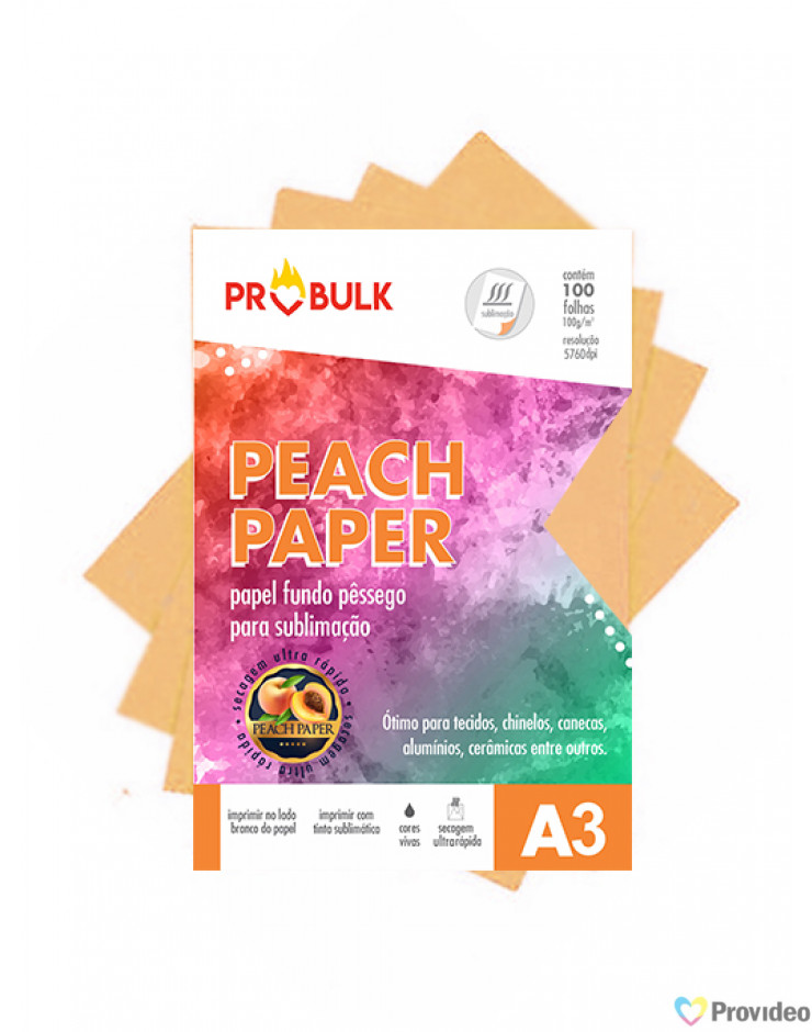 Papel Sublimatico Peach Paper_A3 para Sublimação