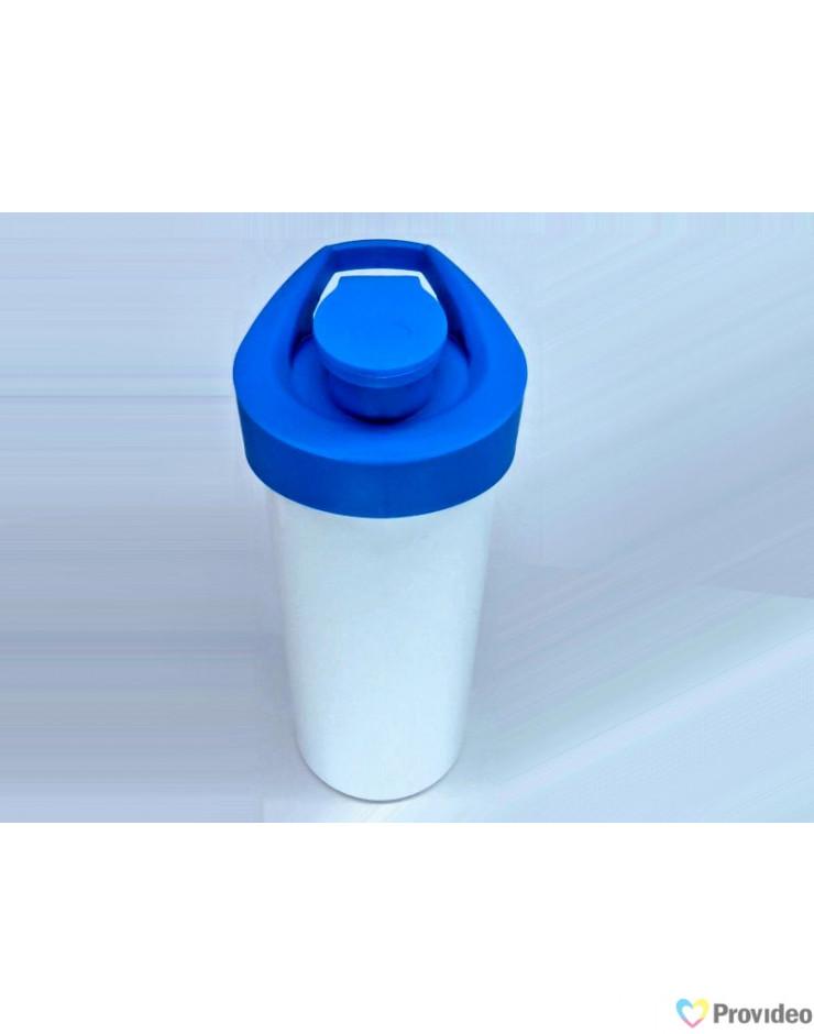 Squeeze Branco para sublimação tampa azul