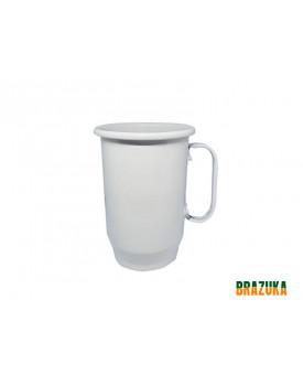 Caneca de Aluminio para Sublimação Branca - 600ml - Brazuka