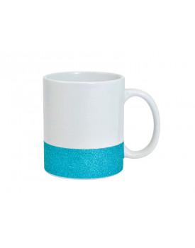 Caneca Base Glitter Azul para Sublimação 11oz - Probulk