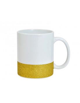 Caneca Base Glitter Dourada para Sublimação 11oz - Probulk