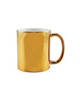 Caneca Cromada Dourada para Sublimação 11oz - Probulk