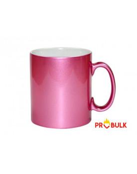 Caneca Cromada Rosa para Sublimação 11oz - Probulk