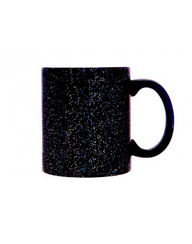 Caneca Mágica Preta Glitter para sublimação- Ilustrativa