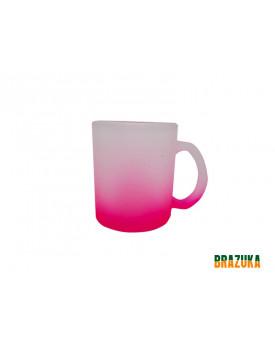 Caneca de Vidro Fosca Rosa para Sublimação 320ml