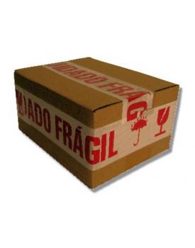 Fita Empacotamento Decorada com Aviso de Cuidado Fráigil