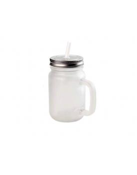 Jarra de Vidro Fosco Mason Jar sublimação - probulk