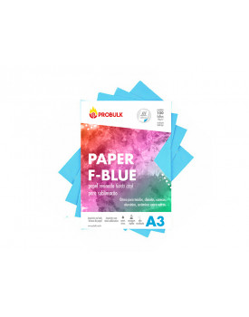 Papel Sublimatico Fundo Azul F-BLUE 110 gr A3