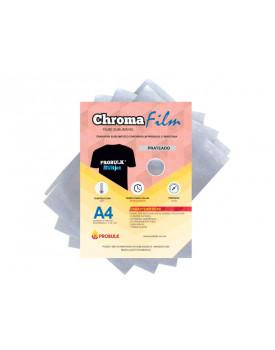 Transfer Sublimatico - Sublimação em camiseta preta, algodão - ChromaFilm