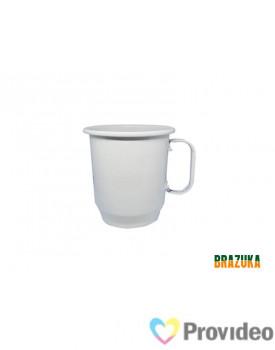 Caneca de Aluminio para Sublimação Branca - 400ml - Brazuka