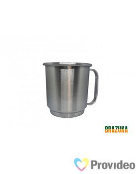 Caneca de Aluminio para Sublimação Prata - 400ml - Brazuka
