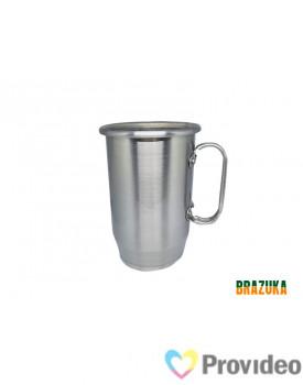 Caneca de Aluminio para Sublimação Prata - 600ml - Brazuka