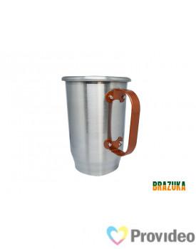 Caneca de Aluminio para Sublimação Prata c/ alça Rosé GOLD - 600ml - Brazuka